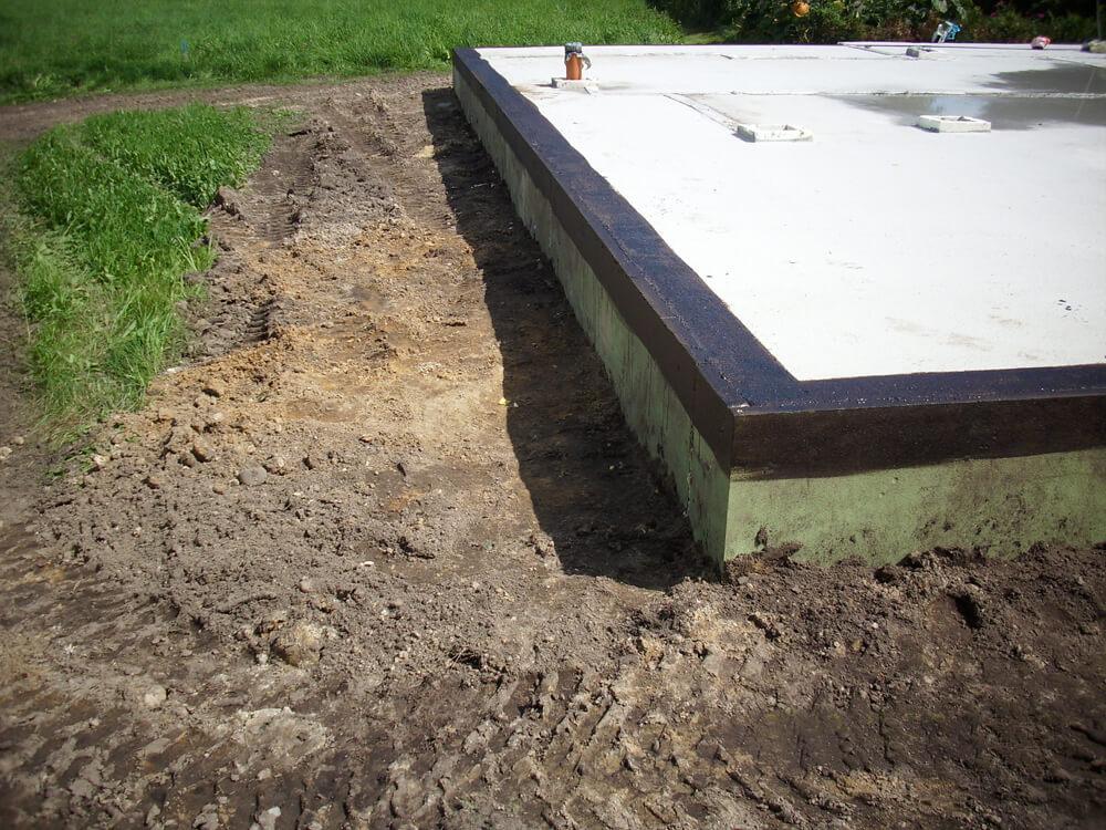 Bodenplatte für EKL Haus