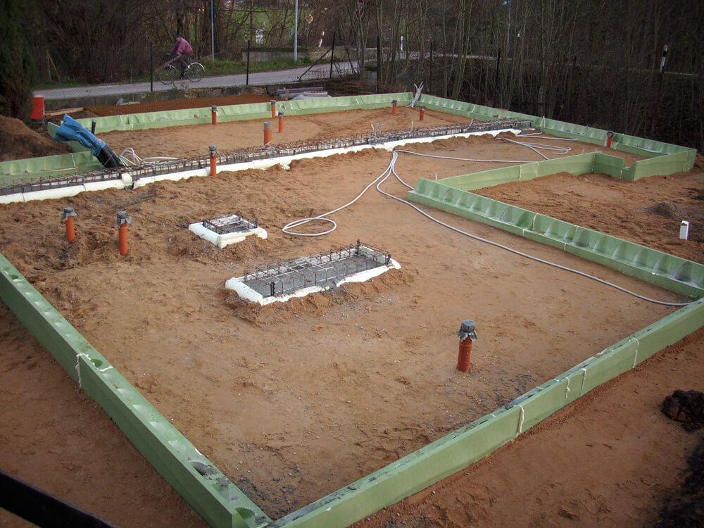 Bodenplatte für Fullwood Holzhaus