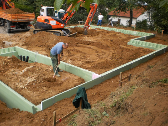 Unterbau Bodenplatte
