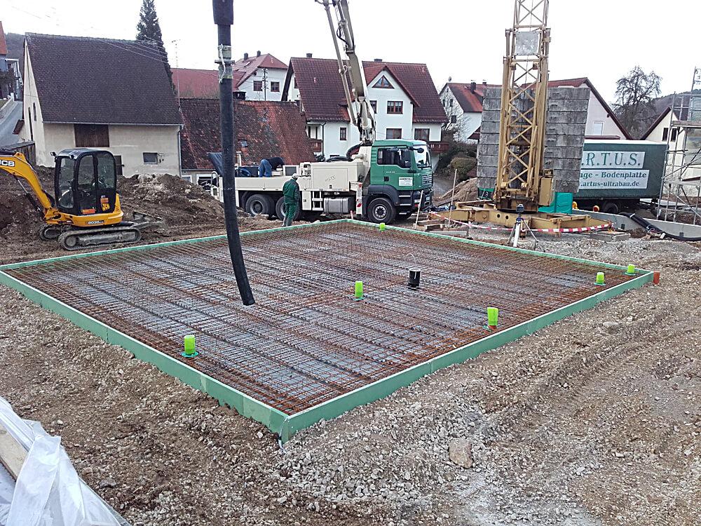 Stahlbewehrung Bodenplatte