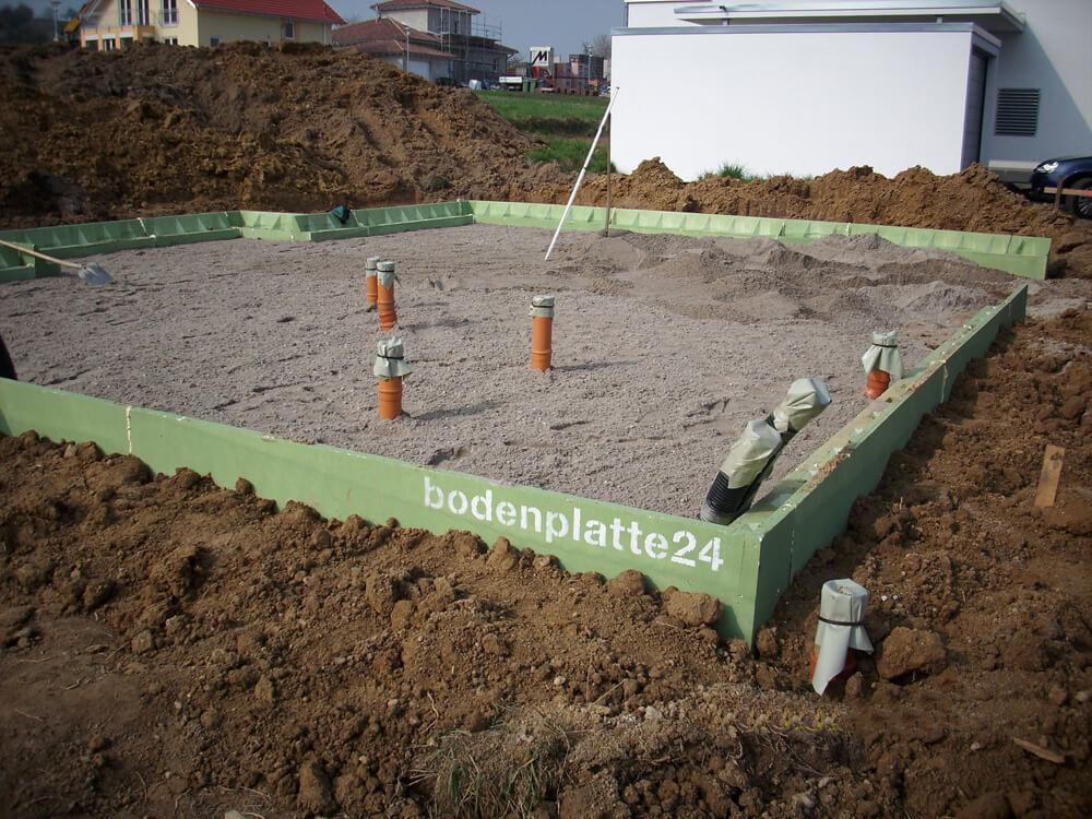 Bodenplatte für Stommel Haus